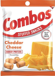 Combos Stuffed Snacks Cheddar Cheese Baked Pretzel 178.6g