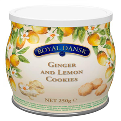 Royal Dansk Ginger and Lemon Cookies 250g