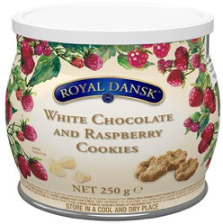 Royal Dansk White Chocolate and Raspberry Cookies 250g