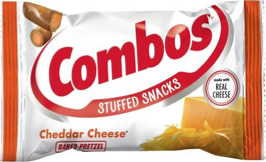 Combos Stuffed Snacks Cheddar Cheese Baked Pretzel 51g