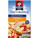 Quaker Instant Oatmeal Banana Strawberry Heaps of Fruit 284g